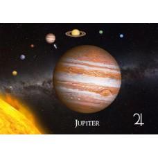 3D pohľadnica Jupiter