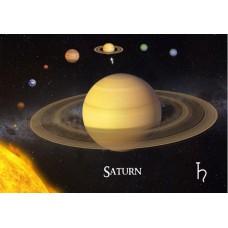3D pohľadnica Saturn