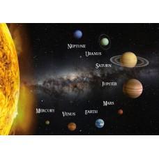 3D pohľadnica Slnečná sústava