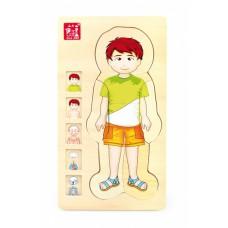 Viacvrstvové puzzle ľudské telo - chlapček