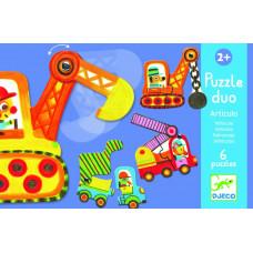 Puzzle Duo pohyblivé autá
