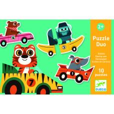 Puzzle Duo pretekárske autá
