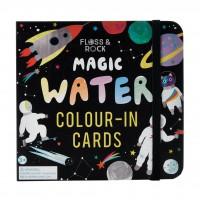 Magické maľovanie vodou - vesmír