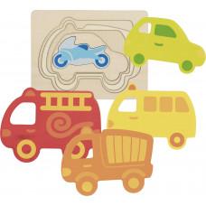 Viacvrstvová skladačka dopravné prostriedky