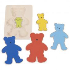 Viacvrstvová skladačka medveď