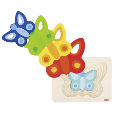 Viacvrstvová skladačka motýľ