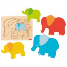 Viacvrstvová skladačka sloník