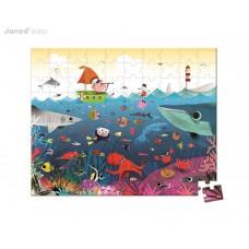 Detské puzzle v kufríku - svet pod vodou