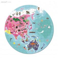 Detské puzzle v kufríku - zemeguľa