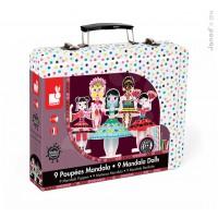 Kreatívna sada origami v kufríku - princezné mandala