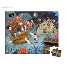 Detské puzzle v kufríku - lovci pokladov
