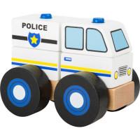 Policajné auto - drevená skladačka
