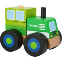 Traktor - drevená skladačka