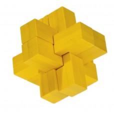 IQ-Test Bamboo puzzle žltý FRIDOLIN