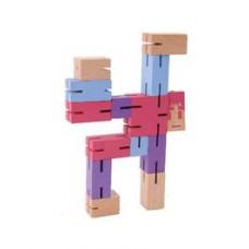 IQ-Test  Puzzle boy  modrá/fialová/ružová